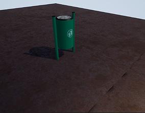 trash bin 3D asset VR / AR ready