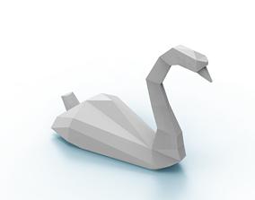 3D model Polygonal Swan