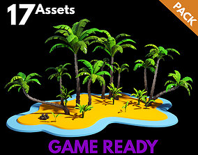3D model Palm Trees Package