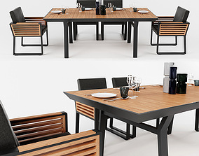 Higold New York dining Set 3D model
