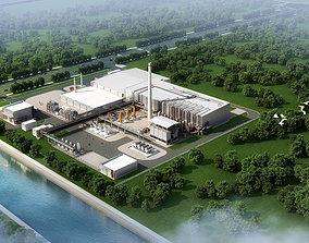 Factory Building 004 3D