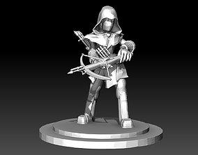 Hunter Assassin DnD miniature figurine 3d printing