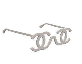 Chanel White CC Logo Futuristic Sunglasses 1994 3D asset