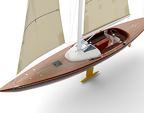 3D model Leonardo yacht Eagle 44 BROWN