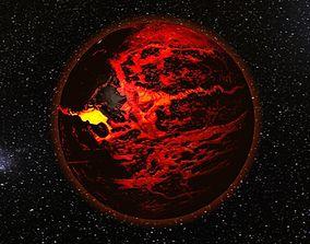 3D model Lava planet