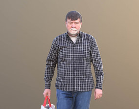 Bernd 10528 - Walking Shopping Man 3D model