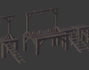3D model Set of Gallows