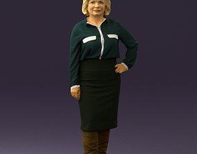 3D print model Woman in black long bworn shoes 0572