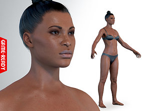 3D asset Average Black Female Body