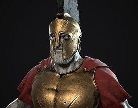 3D asset Greek spartan armor