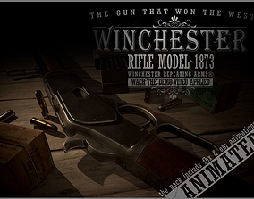 Winchester 1873 3D asset animated