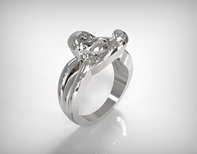 3D printable model Jewelry Silver Ring Twisted Knot