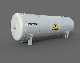 3D asset Lpg Storage Tank