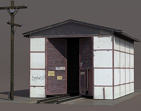 Train Building 3D model