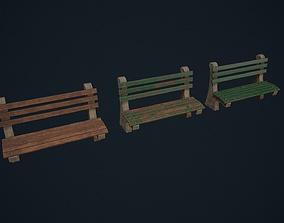 3D asset Park Bench - Outdoor Bench