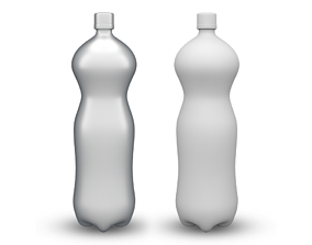 3D model game-ready cola Bottle