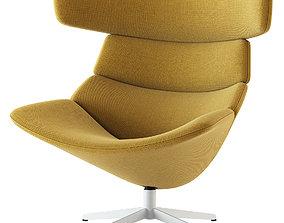 Erik Jorgensen Asko High Easy Chair 3D model