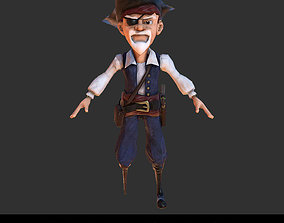 3D asset PBR Pirate Character Cartoon Stylized