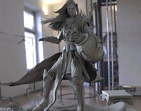Elf with Urn 3D model