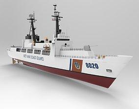 3D asset Coast guard ship