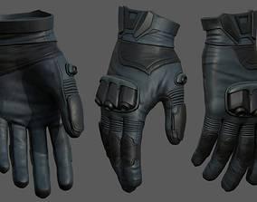 3D model Gloves military combat soldier armor scifi low