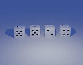 game-ready Dice Model design