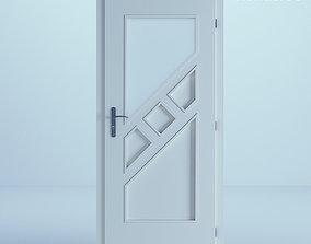 3D minimalist White Door 51