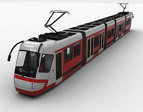 City Tram Bus 3D asset