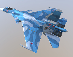 3D Aircraft SU-33 from TAVKR Admiral Kuznetsov
