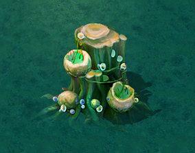 Cartoon version - petrol spores 06 3D model