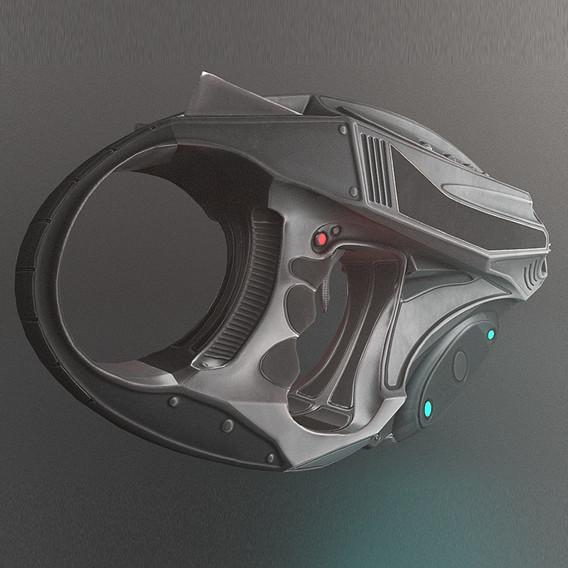 Futuristic Handgun Design