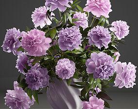 3D Bouquet lilac Peonies