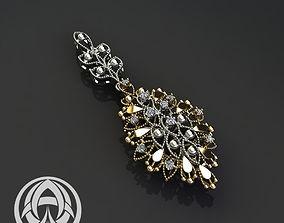 3D print model brilliant pendant design fashion gold jewel