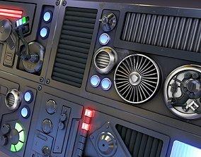 3D model SciFi Space High Tech Wall Panel Custom