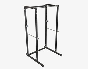 Exercise adjustable bench cage 3D