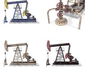 3D Oil Pumpjack Animated Weathered Pack