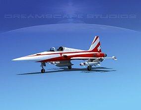 3D model Northrop F-5E Tiger Switzerland