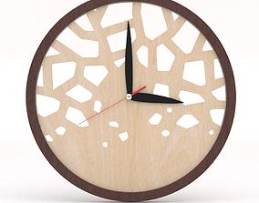 Modern Clock Wooden - Modern Clocks Wall 3D model