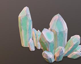 Minerals light-green 4pcs 3D model