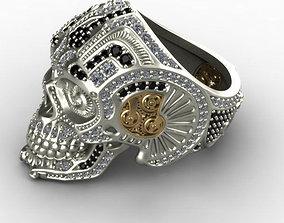 3D printable model skull ring 3