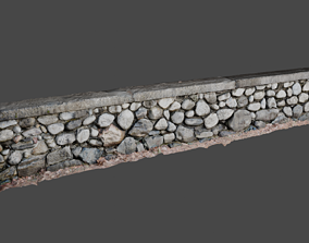 3D Natural Stone Wall Photo Scan with Stone Textures