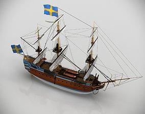 Gotheborg ocean-going ship sailing 3D model