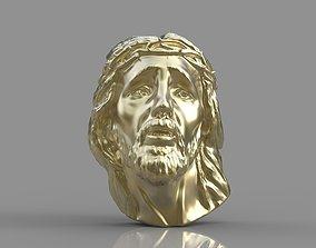 3D printable model gold Pendant Jesus face