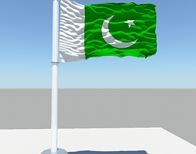 3D Pakistan flag