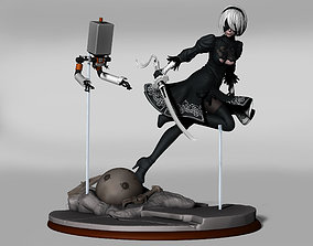 3D printable model figure yorha 2b