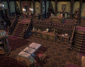 3D asset Haunted Mansion Set - Low Poly Hand Painted