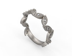 3D printable model Woman Solitaire Ring 264
