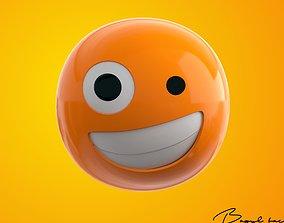 3D model Emoji Zany Face