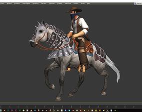 3D asset Horse Animset