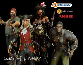 pack of pirates 3D model